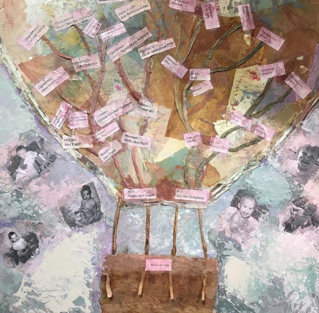 Abstragt Collage Stamtræ